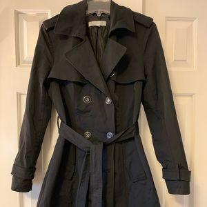 New York & Company Long Black Trench Coat
